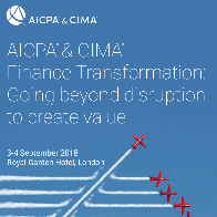 AICPA® & CIMA® Finance Transformation:  Going beyond disruption to create value